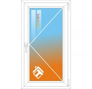 Теплосберегающая пленка для окна стандартных размеров - фото
