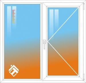 Теплосберегающая пленка для двухстворчатого окна - фото