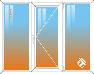 Теплосберегающая пленка на трехстворчатое окно - фото